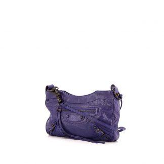 Best Balenciaga Replica shoulder bag in purple leather a3bdd887ca39d