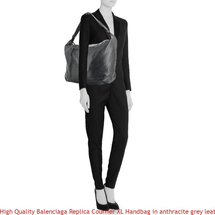 79bcebaef17 High Quality Balenciaga Replica Courrier XL Handbag in anthracite grey  leather