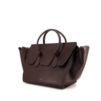 e5dc1c73f97b Perfect Replica celine Tie Bag handbag in brown leather – Replica ...