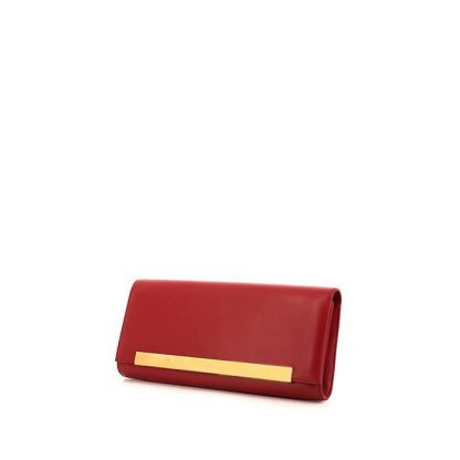 7fdebec0262 Perfect Saint Laurent Replica Lutetia pouch in red box leather ...