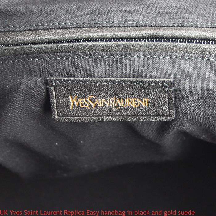 80220ed7f12 UK Yves Saint Laurent Replica Easy handbag in black and gold suede – Replica  Designer Handbags, Fake Designer Replicas Bags Online