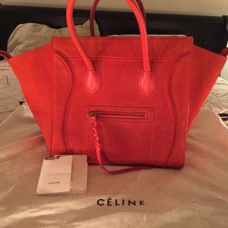 Best Cheap Céline 1 1 Mirror Replica Cabas Phantom Orange Suaede Tote  celine big bag d2cefa630dc19
