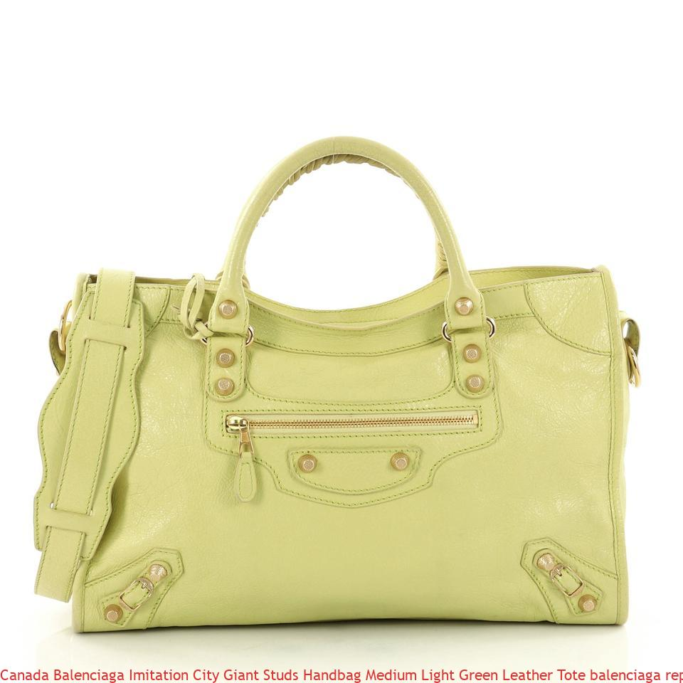 Canada Balenciaga Imitation City Giant Studs Handbag Medium Light Green  Leather Tote balenciaga replica motorcycle bag 6e4f52b13d3cc